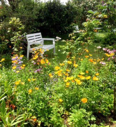 Meditation Gartenbank